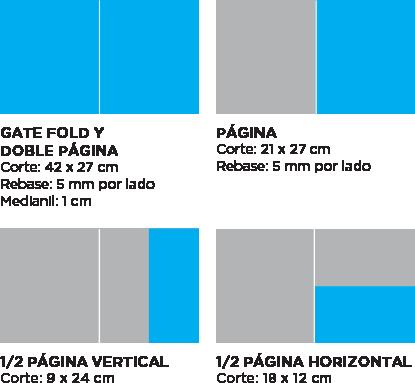 Medidas publicidad Revista MP