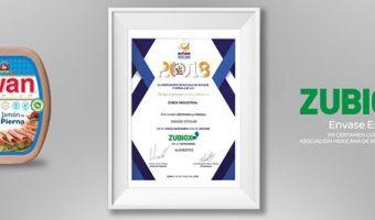 1 Zubex recibe el reconocimiento la distinción Envase Estelar 2018