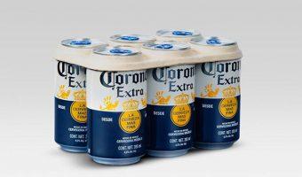 Corona reemplazará el plástico de sus empaques six-pack