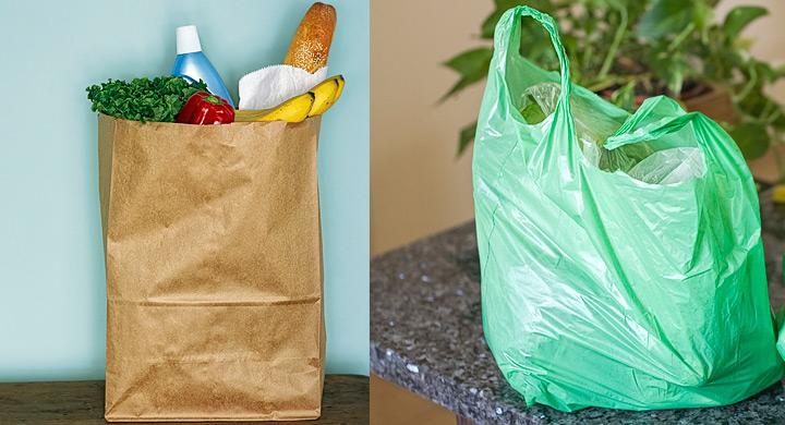 ¿Cuáles bolsas son más contaminantes las de papel o las de plástico?