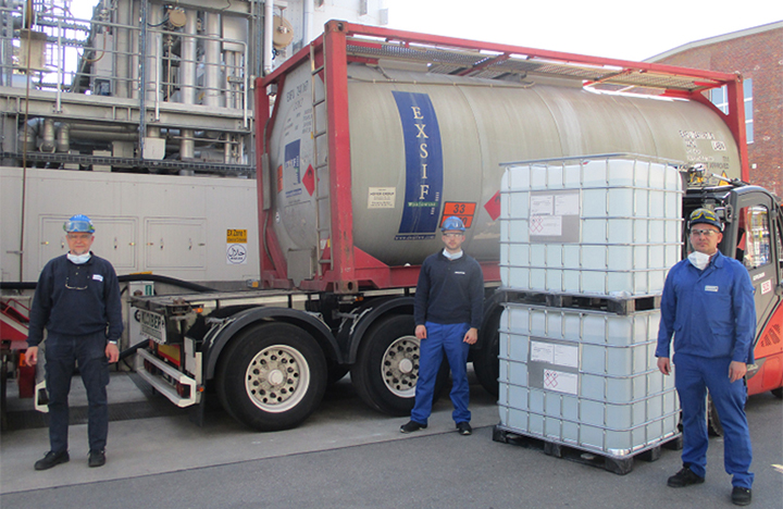 Clariant comienza la producción mensual de 2 millones de litros de desinfectante