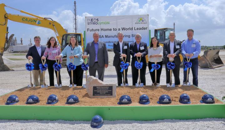 INEOS STYROLUTION organizó una ceremonia inicial para su nueva planta en Texas
