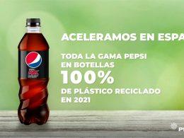 Pepsi lanzará en España botellas 100% de plástico reciclado