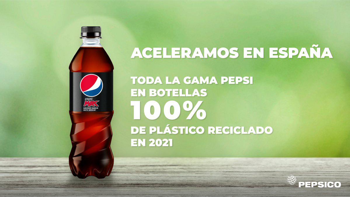 Pepsi lanzará en España botellas 100% de plástico reciclado - Revista MP