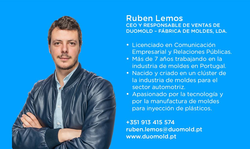 Ruben Lemos, CEO y responsable de ventas de DUOMOLD – Fábrica de Moldes, Lda.
