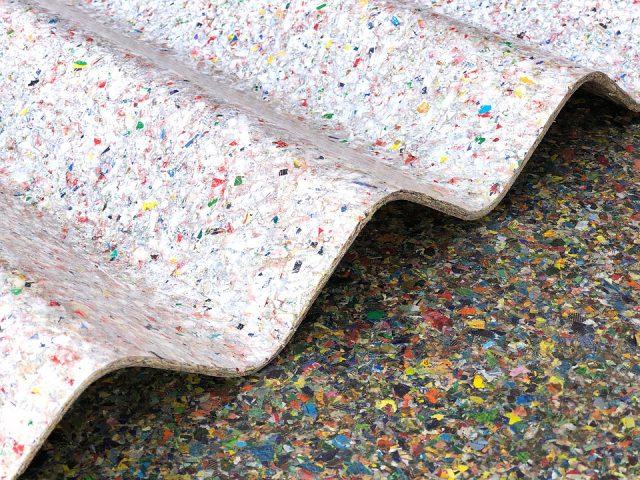 Techos resistentes de plástico no reciclable