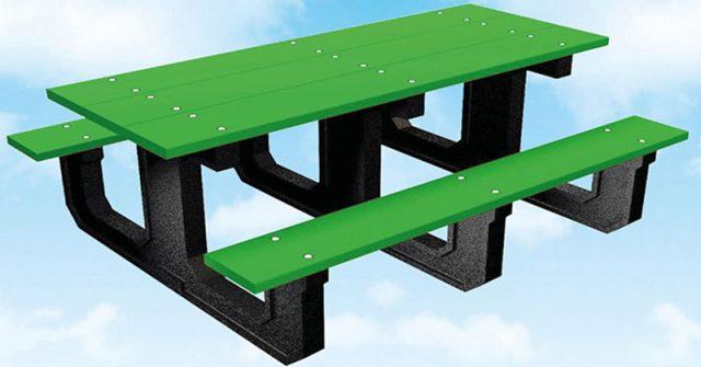 Neumáticos fuera de uso para la fabricación de mesas ecológicas