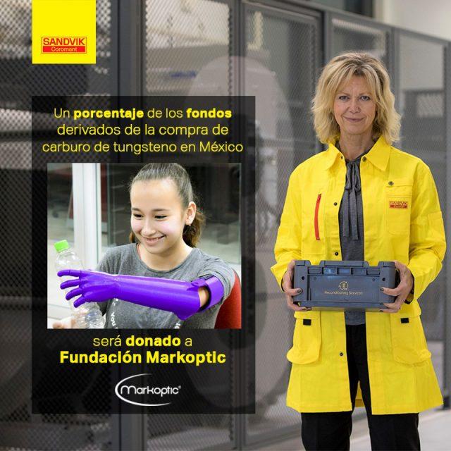 Sandvik Coromant entrega donativo a Fundación Markoptic